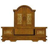 Cabinet furniture - 3D render Royalty Free Stock Photography