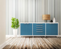 Cabinet and furniture of interior decorated Royalty Free Stock Photos