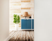 Cabinet and furniture of interior design Royalty Free Stock Image