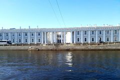 The Cabinet of His Imperial Majesty in sunshine Saint-Petersburg royalty free stock photo