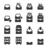 Cabinet icon set Stock Photography