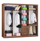 Cabinet inside. Cabinet interior and some types of clothing royalty free stock image