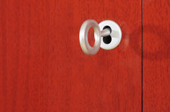 Cabinet key lock Stock Image