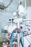 Cabinet médical d'hospitalisé de fragment de machines photographie stock