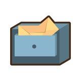 Cabinet mail storage file. Cabinet mail envelope file  illustration eps 10 Stock Photos