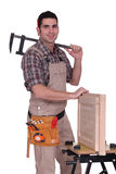 Cabinet maker. Portrait of a cabinet maker Royalty Free Stock Photography
