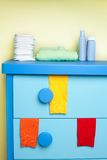 Cabinet in nursery room Royalty Free Stock Photos