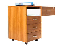 Cabinet with opened drawer Stock Photography