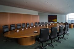 The Cabinet Room inside the Chancellery Building in Berlin-Mitte Stock Photo