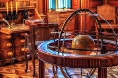 Cabinet of a scientist, antique wooden interior