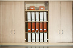 Cabinet with shelves. Office filing cabinet with shelves Stock Photos