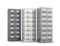 Cabinet for storing documents. Stock Image