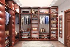Cabinet. Wardrobe room. Royalty Free Stock Photography