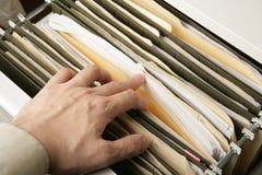Cabinete de archivo Fotografía de archivo libre de regalías