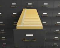 Cabinete de archivo imagen de archivo libre de regalías