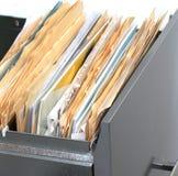 Cabinete de archivo con los ficheros Foto de archivo libre de regalías