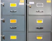 Cabinete de archivo de acero Imágenes de archivo libres de regalías