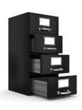 Cabinete de archivo en blanco ilustración del vector