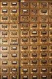 Cabinetes de archivo averiados viejos Fotografía de archivo libre de regalías