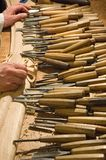cabinetmaker jego narzędzia Obrazy Stock