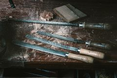 Cabinetmaker tools Stock Images