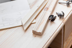 Cabinetmaking with cutter Stock Image
