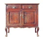 木的cabinetround 库存照片