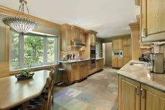 cabinetry drewno kuchenny dębowy zdjęcie stock