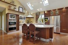 cabinetry redwood kuchenny luksusowy Zdjęcie Royalty Free