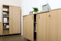 Cabinets with folders Stock Photography