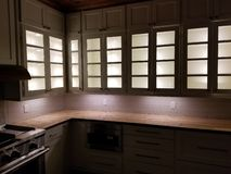 Cabinet light show royalty free stock photography