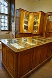 Cabinets with kitchenware in the Imperial Silver Collection in the Hofburg stock photo