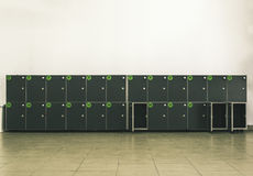 Cabinets safes luggage Stock Photography
