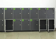 Cabinets safes luggage. Cabinets safes for luggage. White well Royalty Free Stock Photos