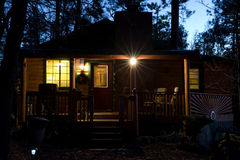 Cabins. Log cabins in Pinetop AZ royalty free stock images