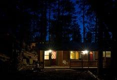 Cabins. Log cabins in Pinetop AZ royalty free stock photos