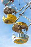 Cabins of abandoned Ferris wheel, Pervouralsk, Urals, Russia Royalty Free Stock Photo