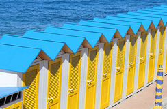 Cabins along the sea. Some cabins along the sea Royalty Free Stock Images