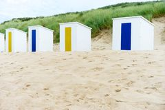 Cabins on a beach Royalty Free Stock Images