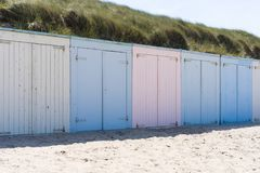 Cabins on a beach Royalty Free Stock Photography