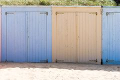 Cabins on a beach Stock Photography