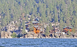 Cabins In the Boulders Royalty Free Stock Photography