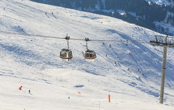 Cabins cableway ski resort of Meribe Stock Image