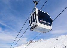 Cabins cableway ski resort of Meribel Royalty Free Stock Photo