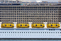 Cabins on a cruise ship Stock Image