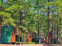 Cabins at Echo Basin. A frame cabins at Echo Basin Ranch Cabin and RV Resort near Mancos, Colorado stock images