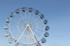 Cabins the ferris wheel against the sky Royalty Free Stock Image