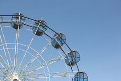 Cabins the ferris wheel against the  sky Stock Photo