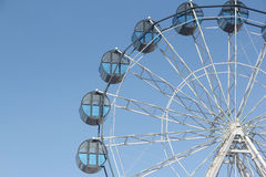 Cabins the ferris wheel against the sky Royalty Free Stock Photo