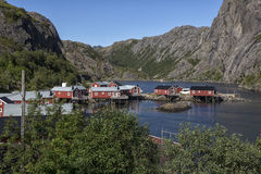 Cabins in Henningsvaer Royalty Free Stock Image
